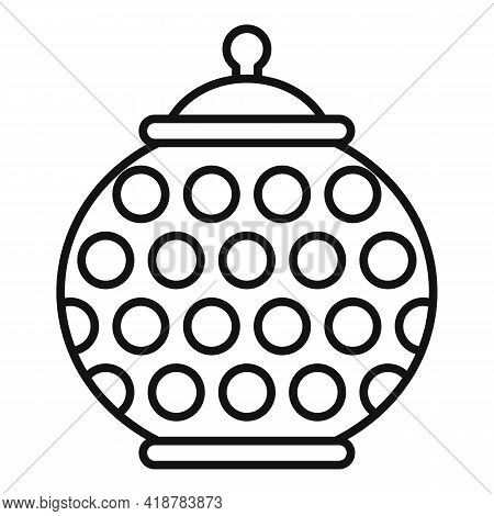 Food Ceramic Pot Icon. Outline Food Ceramic Pot Vector Icon For Web Design Isolated On White Backgro