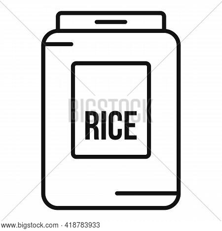 Rice Pack Icon. Outline Rice Pack Vector Icon For Web Design Isolated On White Background