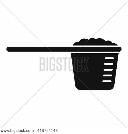 Dry Cleaning Measurement Cup Icon. Simple Illustration Of Dry Cleaning Measurement Cup Vector Icon F