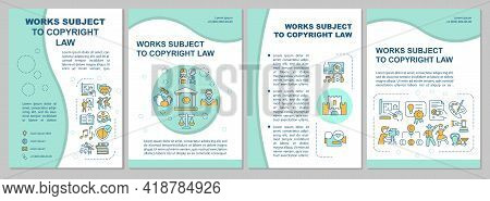 Works Subject To Copyright Law Brochure Template. Steal Property. Flyer, Booklet, Leaflet Print, Cov