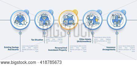 Comprehensive Financial Plan Vector Infographic Template. Property, Art Assets Presentation Design E