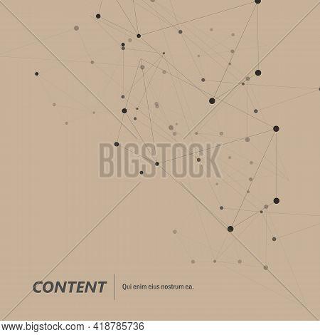 Abstract On Light Backdrop. Social Media Design Concept. Technology Background. Blue Geometric Backg