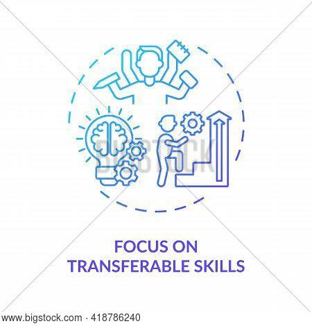 Focus On Transferable Skills Concept Icon. Multifunctional Skills Idea Thin Line Illustration. Caree