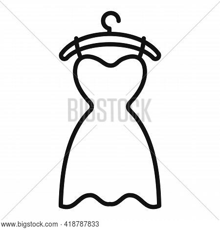 Dress Dry Cleaning Icon. Outline Dress Dry Cleaning Vector Icon For Web Design Isolated On White Bac