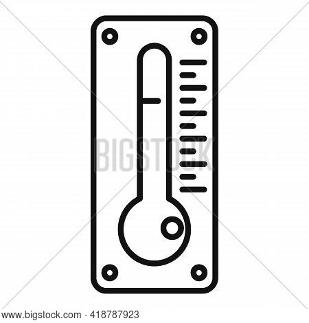 Dry Cleaning Thermometer Icon. Outline Dry Cleaning Thermometer Vector Icon For Web Design Isolated