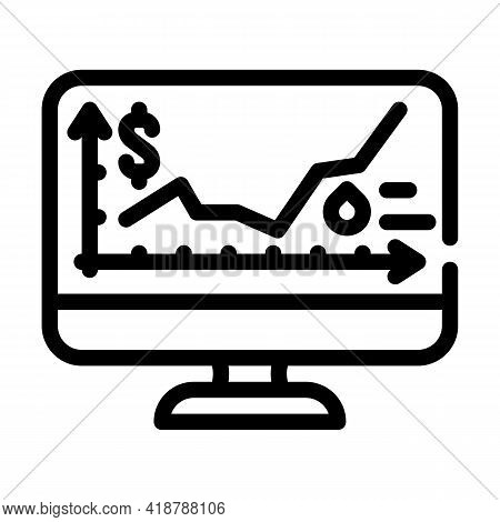 Price Rise Wholesale Line Icon Vector. Price Rise Wholesale Sign. Isolated Contour Symbol Black Illu