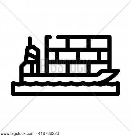 Sea Transportation Wholesale Line Icon Vector. Sea Transportation Wholesale Sign. Isolated Contour S