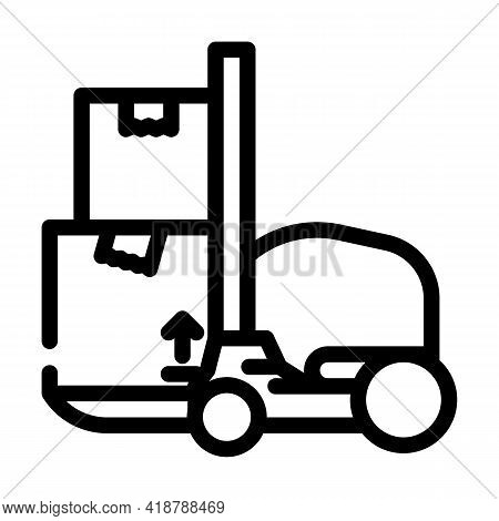 Loader Wholesale Line Icon Vector. Loader Wholesale Sign. Isolated Contour Symbol Black Illustration
