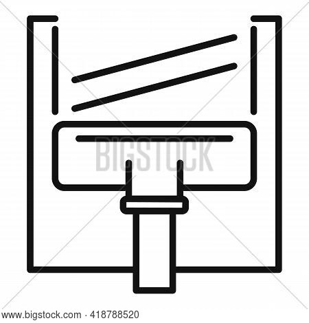 Water Cleaner Mop Icon. Outline Water Cleaner Mop Vector Icon For Web Design Isolated On White Backg