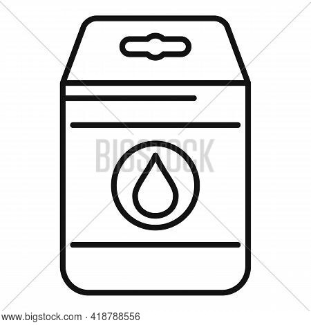 Detergent Pack Icon. Outline Detergent Pack Vector Icon For Web Design Isolated On White Background