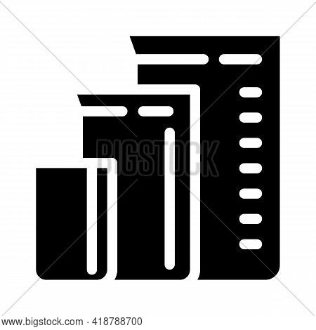 Measuring Cups For Mixing Bartender Glyph Icon Vector. Measuring Cups For Mixing Bartender Sign. Iso