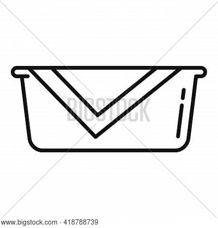 Cleaner Basin Icon. Outline Cleaner Basin Vector Icon For Web Design Isolated On White Background