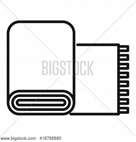 Dry Cleaning Carpet Icon. Outline Dry Cleaning Carpet Vector Icon For Web Design Isolated On White B