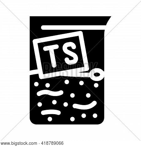 Dry Matter Ts Biogas Glyph Icon Vector. Dry Matter Ts Biogas Sign. Isolated Contour Symbol Black Ill