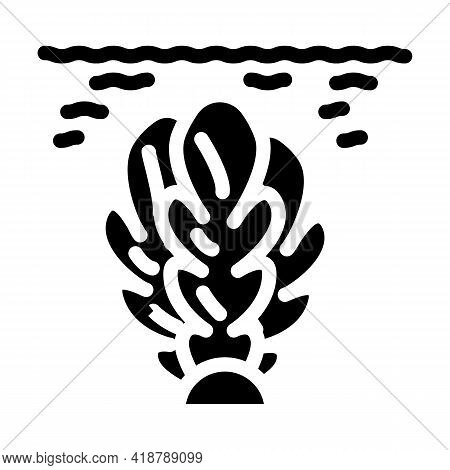 Algae Biogas Glyph Icon Vector. Algae Biogas Sign. Isolated Contour Symbol Black Illustration