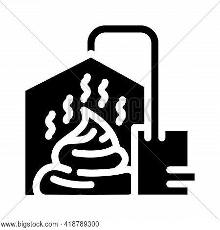 Method Of Obtaining From Feces Biogas Glyph Icon Vector. Method Of Obtaining From Feces Biogas Sign.