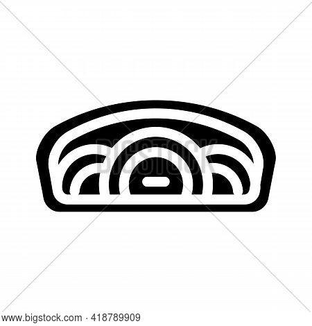 Speedometer Car Glyph Icon Vector. Speedometer Car Sign. Isolated Contour Symbol Black Illustration