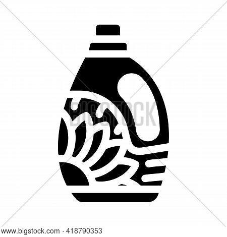 Bottle Detergent Glyph Icon Vector. Bottle Detergent Sign. Isolated Contour Symbol Black Illustratio