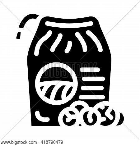 Powder Detergent For Hand Washing Glyph Icon Vector. Powder Detergent For Hand Washing Sign. Isolate