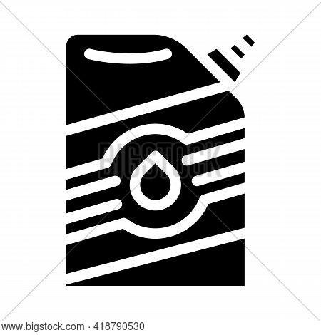 Powder Bag Glyph Icon Vector. Powder Bag Sign. Isolated Contour Symbol Black Illustration