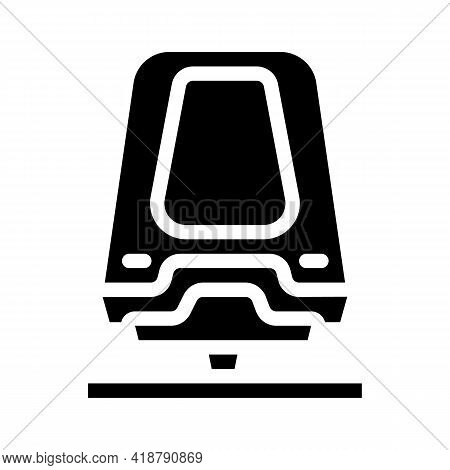Maglev Railway Glyph Icon Vector. Maglev Railway Sign. Isolated Contour Symbol Black Illustration