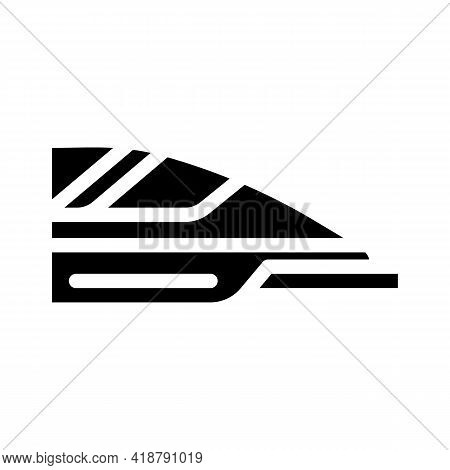 High Speed Train Glyph Icon Vector. High Speed Train Sign. Isolated Contour Symbol Black Illustratio