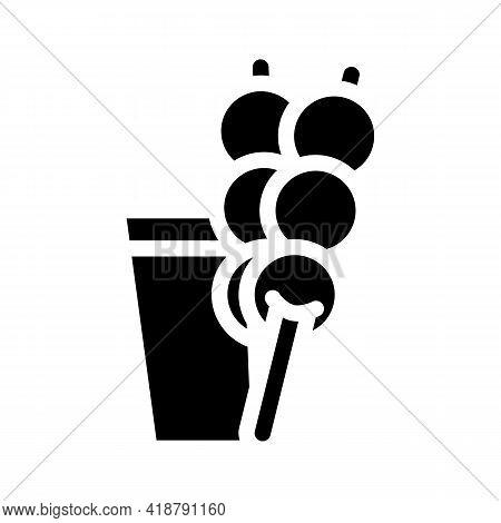 Dango Snack Glyph Icon Vector. Dango Snack Sign. Isolated Contour Symbol Black Illustration