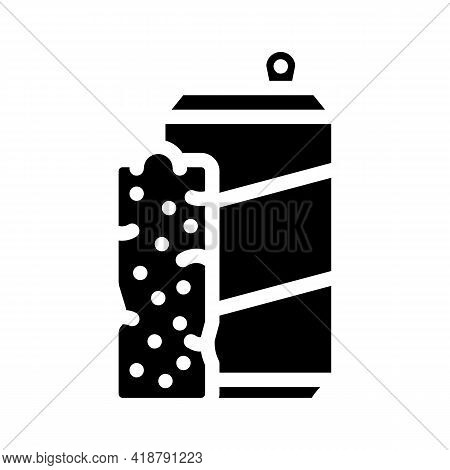 Bars Snack And Drink Container Glyph Icon Vector. Bars Snack And Drink Container Sign. Isolated Cont