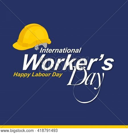 Happy Labor Day Template | International Workers Day Banner | Illustration