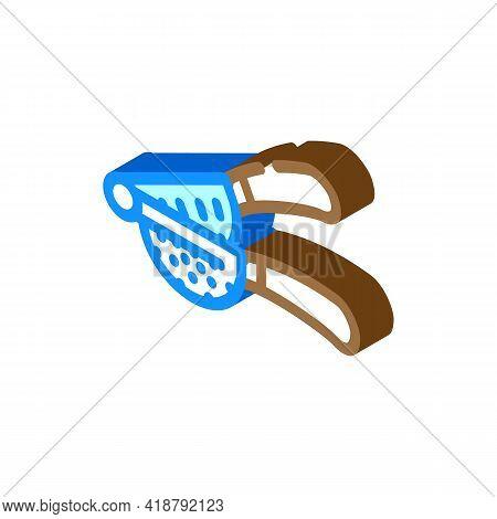 Juicer Bartender Isometric Icon Vector. Juicer Bartender Sign. Isolated Symbol Illustration