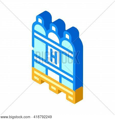 Hydrogen Biogas Isometric Icon Vector. Hydrogen Biogas Sign. Isolated Symbol Illustration