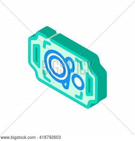 Dishware On Tray Buffet Isometric Icon Vector. Dishware On Tray Buffet Sign. Isolated Symbol Illustr