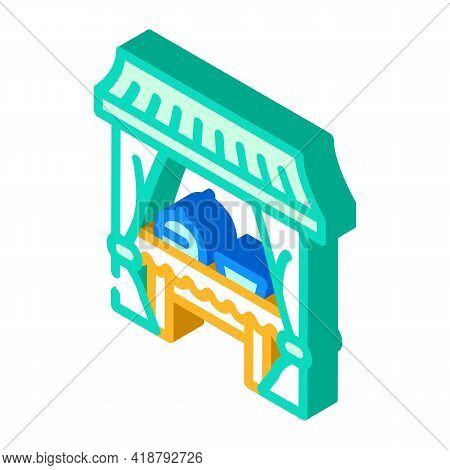 Tent Buffet Isometric Icon Vector. Tent Buffet Sign. Isolated Symbol Illustration