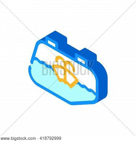 Glass Washing Car Isometric Icon Vector. Glass Washing Car Sign. Isolated Symbol Illustration