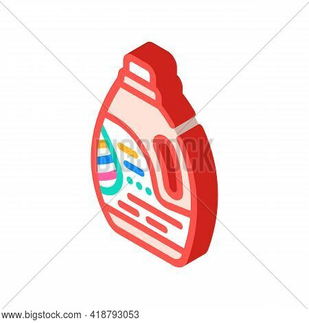 Color Preservation Detergent Isometric Icon Vector. Color Preservation Detergent Sign. Isolated Symb