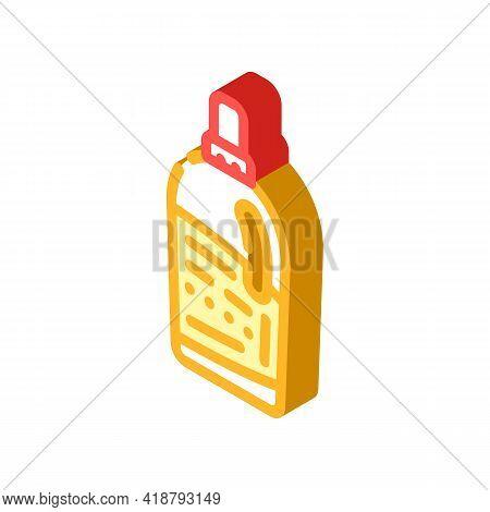 Bottle Detergent Isometric Icon Vector. Bottle Detergent Sign. Isolated Symbol Illustration