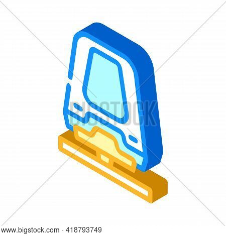 Maglev Railway Isometric Icon Vector. Maglev Railway Sign. Isolated Symbol Illustration