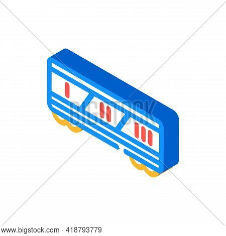 Division By Class Railway Isometric Icon Vector. Division By Class Railway Sign. Isolated Symbol Ill