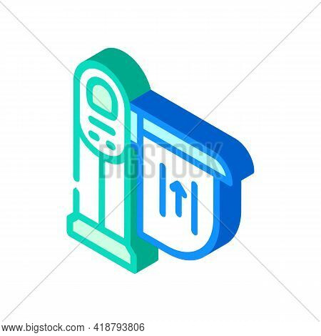 Limiter Railway Isometric Icon Vector. Limiter Railway Sign. Isolated Symbol Illustration
