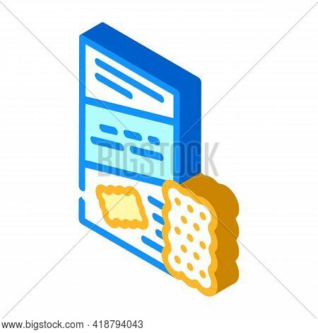 Cookies Snack Isometric Icon Vector. Cookies Snack Sign. Isolated Symbol Illustration