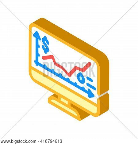 Price Rise Wholesale Isometric Icon Vector. Price Rise Wholesale Sign. Isolated Symbol Illustration