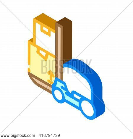 Loader Wholesale Isometric Icon Vector. Loader Wholesale Sign. Isolated Symbol Illustration