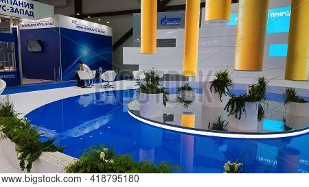 St. Petersburg, Russia - October, 2019: Premium Design Of Recreation And Networking Area With White