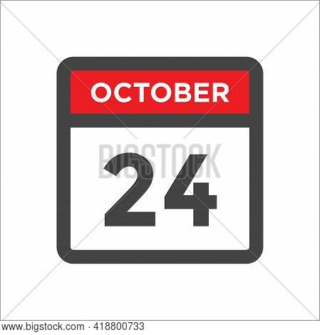October 24 Calendar Icon - Day Of Month