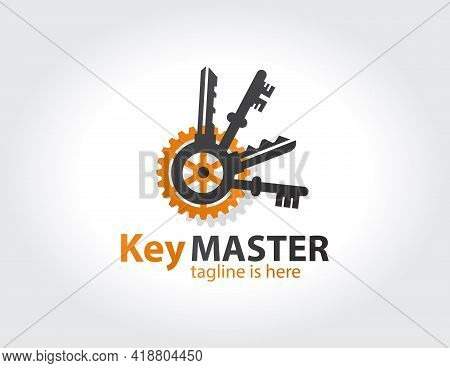 Key Master, Maker Concept Sign. Abstract Creative Key Duplication Logo Concept. Professional Skilled