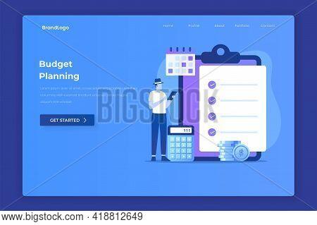 Budget Planning Illustration Concept. Illustration For Websites, Landing Pages, Mobile Applications,