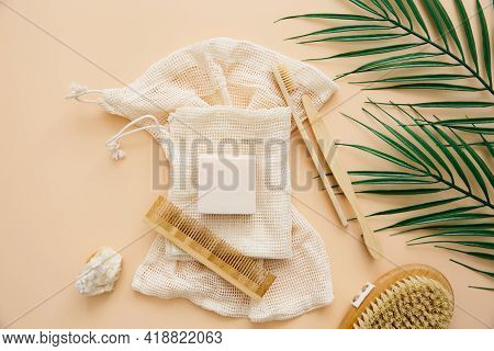 Natural Bathroom Accessories: Bamboo Toothbrushes, Bamboo Ear Sticks, Organic Soap, Reusable Cotton
