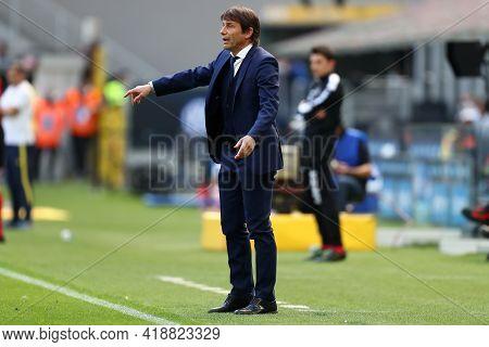 Milano, Italy. 25th April 2021 . Antonio Conte, Head Coach   Of Fc Internazionale  During The Serie