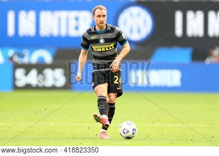Milano, Italy. 25th April 2021 . Christian Eriksen Of Fc Internazionale  During The Serie A Match Be