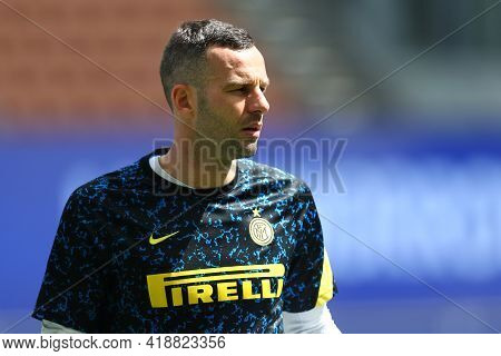Milano, Italy. 25th April 2021 . Samir Handanovic Of Fc Internazionale  During The Serie A Match Bet
